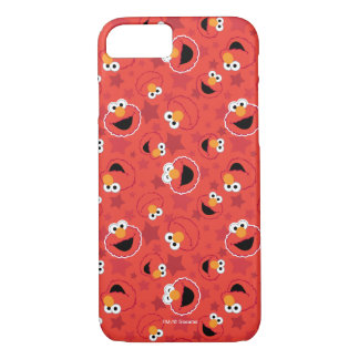Coque iPhone 8/7 Elmo rouge fait face au motif