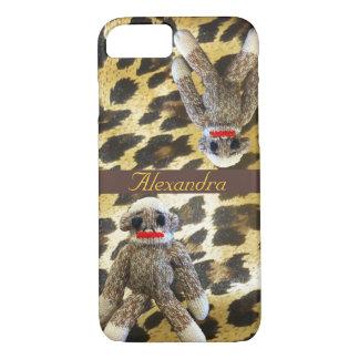 Coque iPhone 8/7 Empreinte de léopard de singe de chaussette