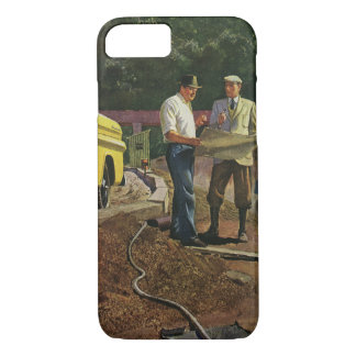 Coque iPhone 8/7 Entrepreneur de construction vintage d'architecte