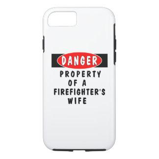 Coque iPhone 8/7 Épouse de sapeur-pompier