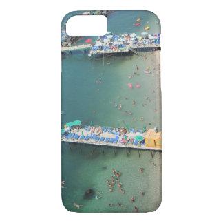 Coque iPhone 8/7 Été de vue d'océan de plage de Sorrente Italie