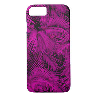 Coque iPhone 8/7 Feuille tropical rose hawaïen de paumes de Makana
