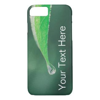 Coque iPhone 8/7 Feuille verte avec la goutte de pluie PhoneCase --