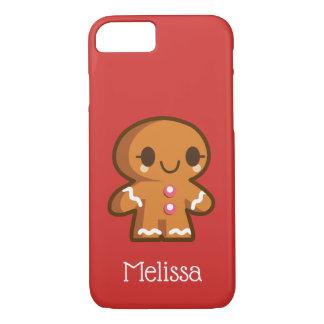Coque iPhone 8/7 Fille mignonne de Gingberbread avec des cils