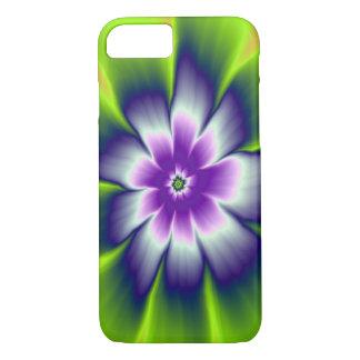 Coque iPhone 8/7 fleur de marguerite de vert bleu et de violette de