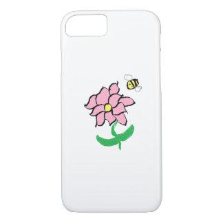 Coque iPhone 8/7 Fleur de printemps et cas de téléphone d'abeille