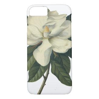 Coque iPhone 8/7 Fleurs blanches de floraison de fleur de magnolia