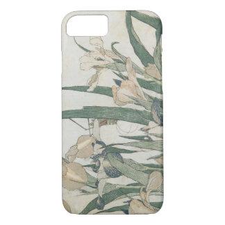 Coque iPhone 8/7 Fleurs d'iris et sauterelle, c.1830-31