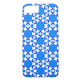 Coque iPhone 8/7 Flocons de neige bleus sur le cas de l'iPhone 7 à