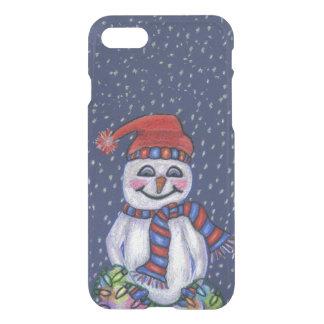 Coque iPhone 8/7 Flocons de neige de sourire de bonhomme de neige