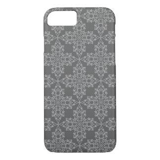Coque iPhone 8/7 Flocons de neige sur un arrière - plan gris