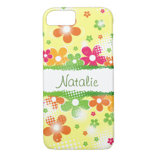 Coque iPhone 8/7 Flower power personnalisable