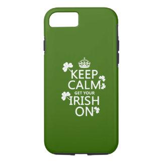 Coque iPhone 8/7 Gardez le calme et obtenez votre irlandais sur