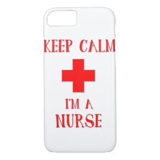 Coque iPhone 8/7 Gardez le calme que je suis une infirmière