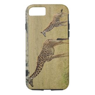 Coque iPhone 8/7 Girafe de masai de mère et de bébé, Giraffa 2