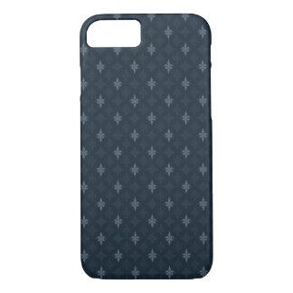 Coque iPhone 8/7 Gris de bleu marine - concevez pour les hommes -