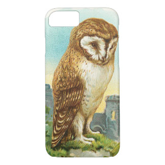 Coque iPhone 8/7 Hibou de grange vintage