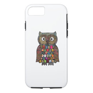 Coque iPhone 8/7 Hibou de patchwork