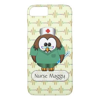 Coque iPhone 8/7 hibou d'infirmière