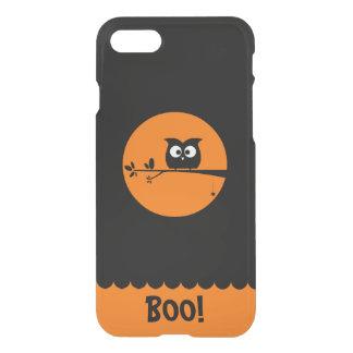 Coque iPhone 8/7 Hibou mignon de Halloween avec des couleurs