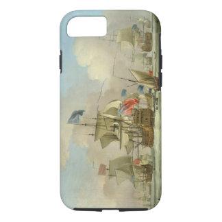 Coque iPhone 8/7 Homme-de-Guerre britannique et un sloop, c.1720-30