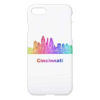 Coque iPhone 8/7 Horizon de Cincinnati d'arc-en-ciel
