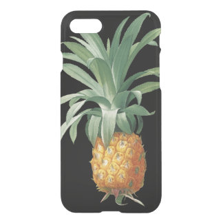 Coque iPhone 8/7 Illustration botanique d'ananas vintage