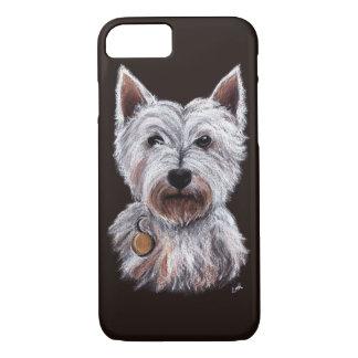 Coque iPhone 8/7 Illustration en pastel d'animal familier de chien