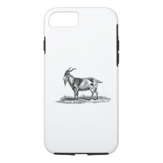 Coque iPhone 8/7 Illustration vintage de chèvre domestique -