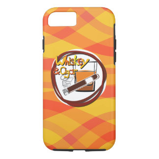 Coque iPhone 8/7 Illustration Wiskey et cigare