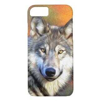 Coque iPhone 8/7 Image de peinture d'art de loup