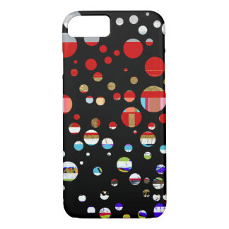 Coque iPhone 8/7 iPhone-6 pointillé avec des couleurs
