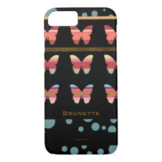 Coque iPhone 8/7 iPhone 7 avec les papillons et les bulles rayés