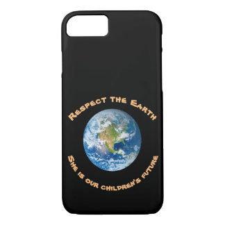 Coque iPhone 8/7 iPhone de respect de la terre de planète futur 8/7