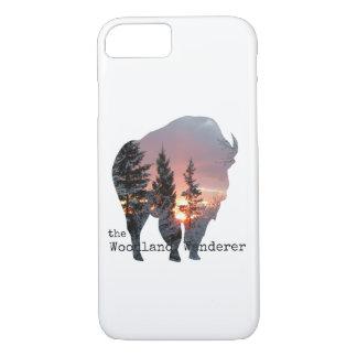 Coque iPhone 8/7 iPhone en bois 7/8 de Buffalo de bison
