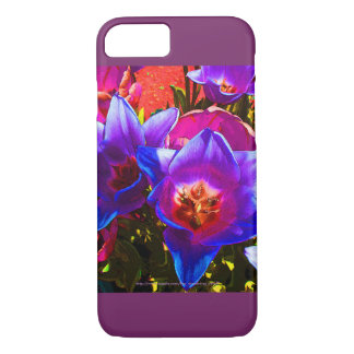 Coque iPhone 8/7 iPhone floral d'imaginaire 7 accents de prune de