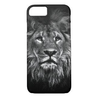 Coque iPhone 8/7 iPhone noir et blanc de Coque-Compagnon de lion