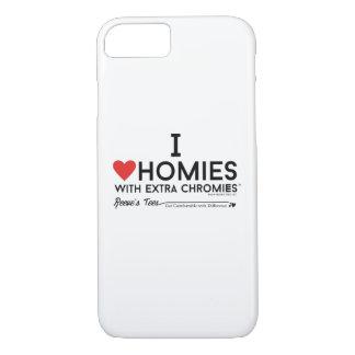 Coque iPhone 8/7 J'aime des homies avec la caisse supplémentaire de