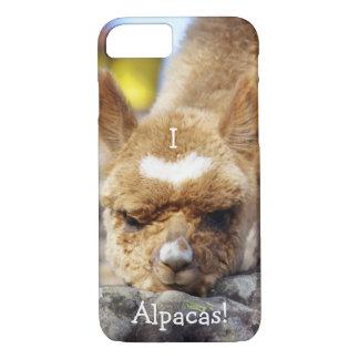 Coque iPhone 8/7 J'aime le cas de téléphone portable d'alpaga