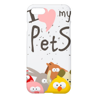Coque iPhone 8/7 j'aime mes animaux familiers