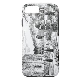 Coque iPhone 8/7 Jardin Ballimore, Jacquard de terrasse, des