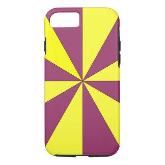 Coque iPhone 8/7 jaune et pourpre