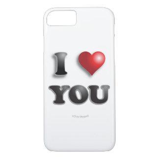 Coque iPhone 8/7 JE T'AIME ! ! ! Bons sentiments heureux de message