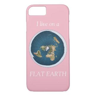 Coque iPhone 8/7 Je vis sur un rose plat de la terre
