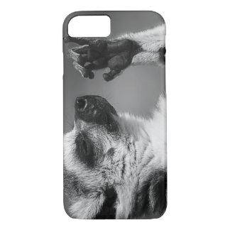 Coque iPhone 8/7 Jeu de lémur coupé la queue par anneau