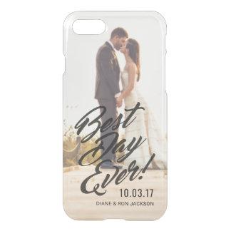 Coque iPhone 8/7 Jour de photo de mariage le meilleur jamais pour