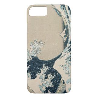 Coque iPhone 8/7 La grande vague de Kanagawa, vues du mont Fuji