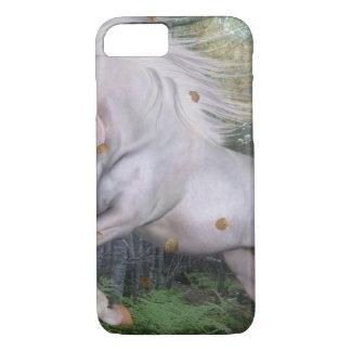 Coque iPhone 8/7 La magie en bois de forêt de licorne tient le