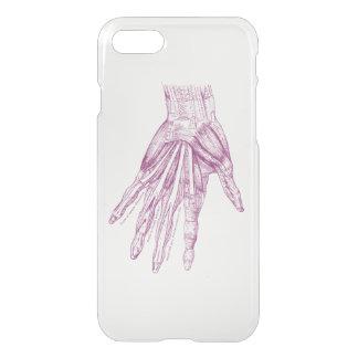 Coque iPhone 8/7 La main vintage de dessin d'anatomie Muscles le