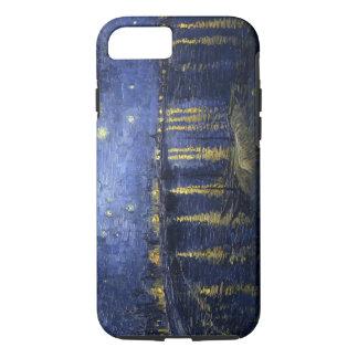 Coque iPhone 8/7 La nuit étoilée de Van Gogh au-dessus du Rhône